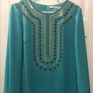 New with tags! Trina Turk Beaded Dress! Size: 10!